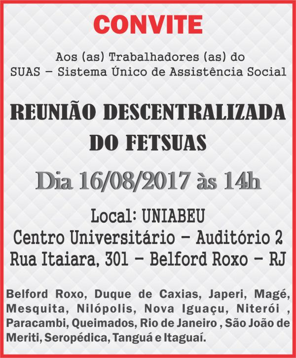 Reunião Descentralizada do FETSUAS